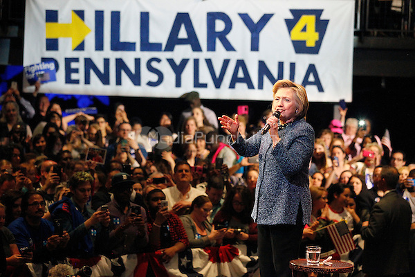 PHILADELPHIA, PA - APRIL 20 :  Hillary Clinton pictured speaking at the Philadelphia Organizing Event at The Fillmore Philadelphia in Philadelphia, Pa on April 20, 2016  photo credit  Star Shooter / MediaPunch