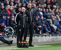 Bolton Wanderers' assistant manager Steve Parkin and manager Phil Parkinson<br /> <br /> Photographer Andrew Kearns/CameraSport<br /> <br /> The EFL Sky Bet Championship - Bolton Wanderers v Swansea City - Saturday 10th November 2018 - University of Bolton Stadium - Bolton<br /> <br /> World Copyright © 2018 CameraSport. All rights reserved. 43 Linden Ave. Countesthorpe. Leicester. England. LE8 5PG - Tel: +44 (0) 116 277 4147 - admin@camerasport.com - www.camerasport.com