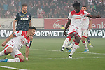 03.11.2019, Merkur Spielarena, Duesseldorf , GER, 1. FBL,  Fortuna Duesseldorf vs. 1. FC Koeln,<br />  <br /> DFL regulations prohibit any use of photographs as image sequences and/or quasi-video<br /> <br /> im Bild / picture shows: <br /> Kasim Adams (Fortuna Duesseldorf #4),  klaert<br /> <br /> Foto © nordphoto / Meuter