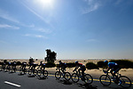 The peloton in the desert during Stage 1 The Nakheel Stage of the Dubai Tour 2018 the Dubai Tour&rsquo;s 5th edition, running 167km from Skydive Dubai to Palm Jumeirah, Dubai, United Arab Emirates. 6th February 2018.<br /> Picture: LaPresse/Fabio Ferrari | Cyclefile<br /> <br /> <br /> All photos usage must carry mandatory copyright credit (&copy; Cyclefile | LaPresse/Fabio Ferrari)