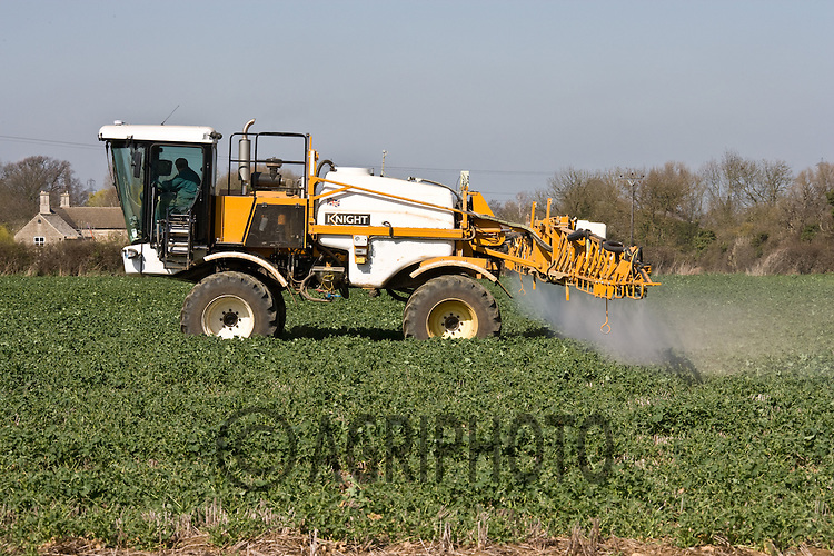 25.3.2011 Knight self-propelled sprayer working in oil seed rape.©Tim Scrivener 07850 303986.