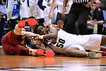 MILWAUKEE, WI - MARCH 18: Purdue Boilermakers forward Caleb Swanigan (50) fights hard for a loose ball during the second half of the 2017 NCAA Men's Basketball Tournament held at BMO Harris Bradley Center on March 18, 2017 in Milwaukee, Wisconsin. (Photo by Jamie Schwaberow/NCAA Photos via Getty Images)