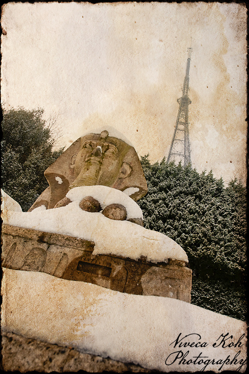 Stone sphinx in Crystal Palace Park