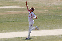 Aaron Beard of Essex celebrates a wicket (not out) during Essex CCC vs Surrey CCC, Bob Willis Trophy Cricket at The Cloudfm County Ground on 11th August 2020