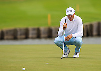 Julien Quesne (FRA) on the 18th green during Round 2 of the 100th Open de France, played at Le Golf National, Guyancourt, Paris, France. 01/07/2016. <br /> Picture: Thos Caffrey | Golffile<br /> <br /> All photos usage must carry mandatory copyright credit   (&copy; Golffile | Thos Caffrey)