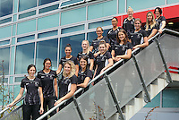 10.12.2015 Silver Ferns squad after the announcement today in Auckland. Mandatory Photo Credit ©Michael Bradley.
