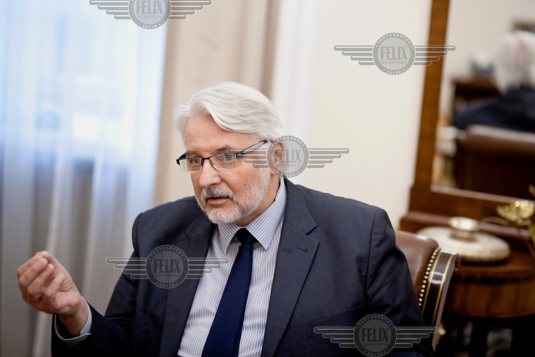 Foreign affairs minister Witold Waszczykowski in his office.