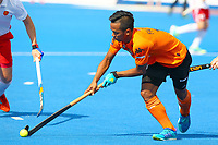 Faizal Saari of Malaysia in action during the Hockey World League Semi-Final Pool A match between England and Malaysia at the Olympic Park, London, England on 17 June 2017. Photo by Steve McCarthy.