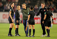CARSON, CA - FEBRUARY 07: Canada's Women's national team coach Kenneth Heiner-Møller during a game between Canada and Costa Rica at Dignity Health Sports Complex on February 07, 2020 in Carson, California.