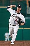 Reno Aces starting pitcher Cris Jakubauskas throws vs Sacramento River-Cats on Saturday night, April 21, 2012 in Reno, Nevada.
