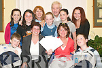 Super Fundraisers: Receiving their awards as Best Collectors were, front l-r: Gavin Stack,.Kim Heffernan (Listowel Credit Union), Isabel McDonough (Guide Dogs for the Blind).and Dara Hughes. Back l-r: Deirdre ODonnell (GDFB), Sarah Browne, Anne Cox.(GDFB), Aine Stack, Christy Kileen (Listowel Credit Union), Niamh Horan and Lisa.McDonough (GDFB). Missing from photo is Sean Hannon.