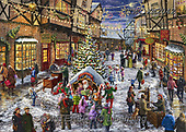 Marcello, CHRISTMAS LANDSCAPES, WEIHNACHTEN WINTERLANDSCHAFTEN, NAVIDAD PAISAJES DE INVIERNO, paintings+++++,ITMCXM2042,#XL# ,puzzle ,marketplace