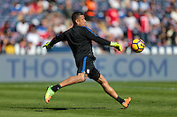 San Diego, CA - Sunday January 29, 2017: Nick Rimando prior to an international friendly between the men's national teams of the United States (USA) and Serbia (SRB) at Qualcomm Stadium.