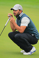 Pablo Larrazabal (ESP) on the 1st green during Thursday's Round 1 of the 2014 BMW Masters held at Lake Malaren, Shanghai, China 30th October 2014.<br /> Picture: Eoin Clarke www.golffile.ie