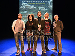 Ciarán Hodgers with his dad Gerry, Kieren King, Abby Oliveira and Rose Condoat the launch of his book Cosmocartography in The Droichead Arts Centre. Photo:Colin Bell/pressphotos.ie