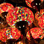 Glass Lanterns 03 - Glass lantern stall in the Grand Bazaar, Beyazit, Istanbul, Turkey