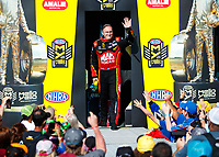 Mar 19, 2017; Gainesville , FL, USA; NHRA top fuel driver Doug Kalitta during the Gatornationals at Gainesville Raceway. Mandatory Credit: Mark J. Rebilas-USA TODAY Sports