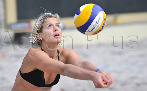12.07.2012. Berlin, Germany. Beach-Volleyball Grand Slam 2012.  The German Olympic Volleyball player  Laura Ludwig