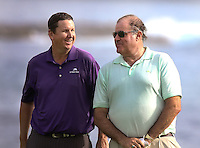 160211 Connecticut's JJ Henry with ESPN's Chris Berman during Thursday's First  Round at The AT&T National Pro Am at The Pebble Beach Golf Links in Carmel, California. (photo credit : kenneth e. dennis/kendennisphoto.com)