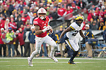 Wisconsin Badgers wide receiver Kendric Pryor (3) carries the ball during an NCAA College Big Ten Conference football game against the Michigan Wolverines Saturday, November 18, 2017, in Madison, Wis. The Badgers won 24-10. (Photo by David Stluka)