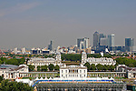 LONDON, ENGLAND. 04-07-2011. A general view of the dressage arena and City of London from The Royal Obsevatory for the London 2012 Olympic equestrian test event held in the Royal Greenwich Park  London.  Mandatory credit: Mitchell Gunn.