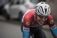 Bob Jungels (LUX/Etixx-QuickStep) trying to get away solo<br /> <br /> 12th Eneco Tour 2016 (UCI World Tour)<br /> Stage 7: Bornem › Geraardsbergen (198km)