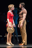 "8 February 2013, London, England, UK. John Partridge with Scarlett Strallen. The Musical ""A CHORUS LINE"" opens at the London Palladium, starring John Partridge and Scarlett Strallen. Photo: Bettina Strenske"