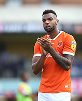 Blackpool's Curtis Tilt applauds the Blackpool fans at the end of the game<br /> <br /> Photographer Rob Newell/CameraSport<br /> <br /> The EFL Sky Bet Championship - Southend United v Blackpool - Saturday 10th August 2019 - Roots Hall - Southend<br /> <br /> World Copyright © 2019 CameraSport. All rights reserved. 43 Linden Ave. Countesthorpe. Leicester. England. LE8 5PG - Tel: +44 (0) 116 277 4147 - admin@camerasport.com - www.camerasport.com