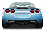 Straight rear view of a 2012 Chevrolet Corvette GS Coupe