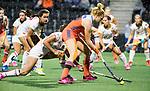 AMSTELVEEN -  Margot van Geffen (Ned)   tijdens Nederland - Spanje (dames) bij de Rabo EuroHockey Championships 2017.  COPYRIGHT KOEN SUYK