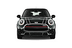Car photography straight front view of a2015 MINI Mini John Cooper Works 3 Door Hatchback Front View