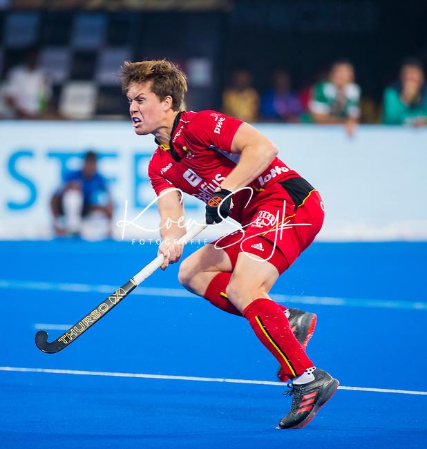 BHUBANESWAR (INDIA) - Tom Boon (Belgie)  tijdens Belgie-Pakistan bij het WK Hockey heren.   COPYRIGHT KOEN SUYK
