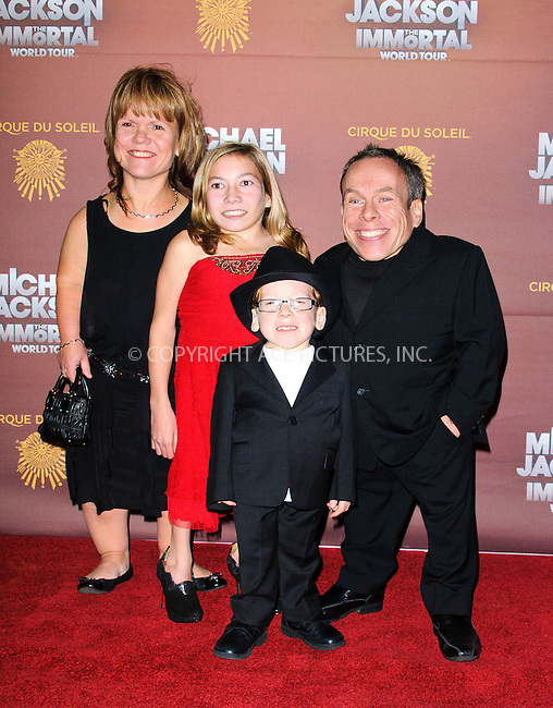WWW.ACEPIXS.COM....US Sales Only....October 12 2012, London....Warwick Davis and familyc at the European premiere of 'Michael Jackson: The Immortal World Tour' at the O2 Arena on October 12 2012  in London....By Line: Famous/ACE Pictures......ACE Pictures, Inc...tel: 646 769 0430..Email: info@acepixs.com..www.acepixs.com