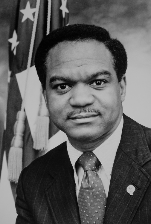 Close-up of Rep. Walter E. Fauntroy, D-D.C. 1989. (Photo by CQ Roll Call)