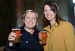 Kathryn Williams and Julia McWatt enjoying a beer <br /> <br /> The Urban Tap House Press Launch - Tiny Rebel Brewery - Cardiff - Wednesday 02nd October 2013 - Wales <br /> <br /> &copy;www.fotowales.com - Please Credit: Ian Cook - Fotowales