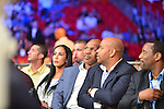 MIAMI, FL - JULY 10: Promoter and former boxer Mike Tyson and wife Lakiha Spicer attend Iron Mike Judgement Day boxing match at AmericanAirlines Arena on July 10, 2014 in Miami, Florida.  (Photo by Johnny Louis/jlnphotography.com)