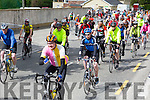 At the Start of the  Pedal the peninsula  run by Sliabh Mish Spinners Cycling Club in association with Keel Palliative Care Fundraising Group and Keel GAA. on Sunday