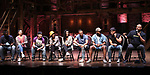 "Carvens Lissaint, Lauren Boyd, Thayne Jasperson, Christina Glur, Gabriella Sorrentino, Tré Smith, Deon'te Goodman, Terrance Spencer and James Monroe Iglehart  during the Q & A before The Rockefeller Foundation and The Gilder Lehrman Institute of American History sponsored High School student #eduHAM matinee performance of ""Hamilton"" at the Richard Rodgers Theatre on June 5, 2019 in New York City."