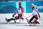 Pyeongchang, Korea, 10/3/2018- Colin Cameron wins bronze in the mens 7.5km seated in the Biathlon at the Alpensa Biathlon Centre during the 2018 Paralympic Games in PyeongChang. Photo Scott Grant/Canadian Paralympic Committee.