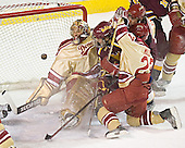 Peter Mannino, Greg Rallo, Patrick Mullen, Gabe Gauthier - The Ferris State Bulldogs defeated the University of Denver Pioneers 3-2 in the Denver Cup consolation game on Saturday, December 31, 2005, at Magness Arena in Denver, Colorado.