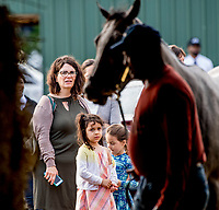 BALTIMORE, MD - MAY 15: Fans watch a horse walk shed row during Sunrise at Old Hilltop on Preakness Week at Pimlico Race Course on May 15, 2018 in Baltimore, Maryland (Photo by Scott Serio/Eclipse Sportswire/Getty Images)