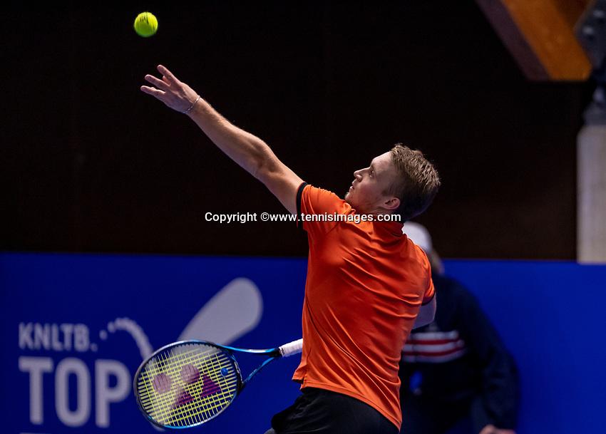 Alphen aan den Rijn, Netherlands, December 16, 2018, Tennispark Nieuwe Sloot, Ned. Loterij NK Tennis, Final men: Jelle Sels (NED)<br /> Photo: Tennisimages/Henk Koster