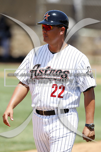 July 11, 2009:  Manager Omar Lopez (22) of the GCL Astros during a game at Osceola County Complex in Kissimmee, FL.  The GCL Astros are the Gulf Coast Rookie League affiliate of the Houston Astros.  Photo By Mike Janes/Four Seam Images