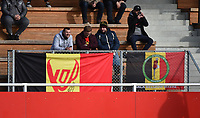20181027 - CAMPHIN-EN-PEVELE , FRANCE : Belgian fans pictured during the 8 th competition game between the women teams of Lille OSC and Montpellier Herault Sporting Club in the 2018-2019 season of the first Division - Ligue 1 at Domaine de Luchin , Saturday 27th Octobre 2018 ,  PHOTO Dirk Vuylsteke | Sportpix.Be