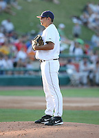 Tim Schoeninger of the Cedar Rapids Kernals during the Midwest League All-Star game.  Photo by:  Mike Janes/Four Seam Images