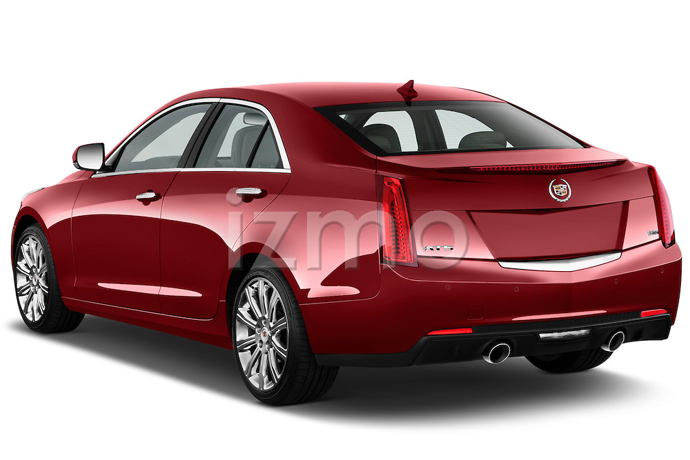 Rear three quarter view of a   2013 Cadillac ATS sedan