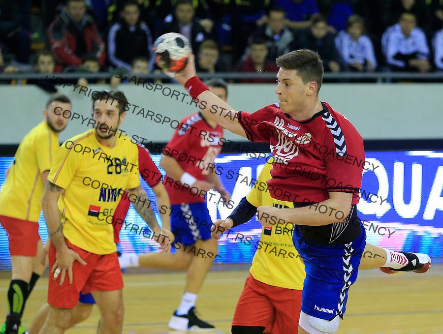 Rukomet-Handball<br /> Srbija v Rumunija-Prijateljski mec friendly match<br /> Mijajlo Marsenic (R)<br /> Beograd, 28.12.2015.<br /> foto: Srdjan Stevanovic/Starsportphoto&copy;