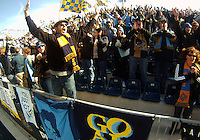 Sons of Ben, fans of the Philadelphia Union during an MLS match against the Vancouver Whitecaps at PPL Park in Chester, PA. on March 26 2011.Union won 1-0.