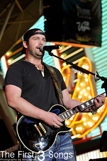Lee Brice performs during the ACM Concerts at Fremont Street Experience Event in Las Vegas, Nevada on April 1, 2011.