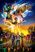 Goosebumps 2: Haunted Halloween (2018) <br /> Promotional art with Caleel Harris, Jeremy Ray Taylor &amp; Madison Iseman<br /> *Filmstill - Editorial Use Only*<br /> CAP/MFS<br /> Image supplied by Capital Pictures
